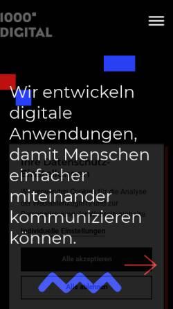 Vorschau der mobilen Webseite www.1000grad.de, 1000grad-digital GmbH