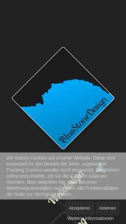 Vorschau der mobilen Webseite www.bluestonedesign.de, BlueStoneDesign