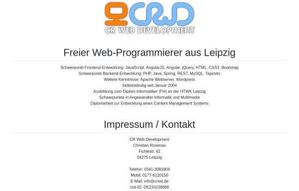 Vorschau von www.crwd.de, CR Web Development, Christian Rosenau