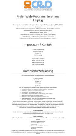 Vorschau der mobilen Webseite www.crwd.de, CR Web Development, Christian Rosenau