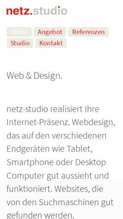 Vorschau der mobilen Webseite www.netz-studio.de, Netz-Studio