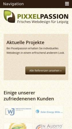 Vorschau der mobilen Webseite www.pixxelpassion.de, Pixxelpassion, Chris Donner