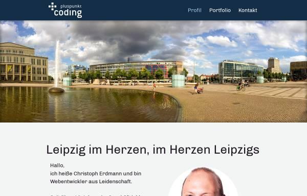 Vorschau von www.pluspunkt-coding.de, Pluspunkt coding, Christoph Erdmann