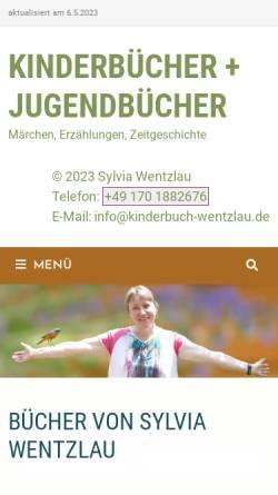 Vorschau der mobilen Webseite www.wentzlau.de, Sylvia Wentzlau