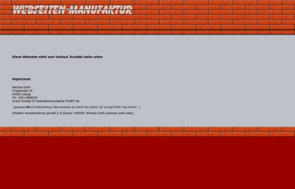 Vorschau von www.webseitenmanufaktur.de, Webseitenmanufaktur, Dr. Michael Gerth