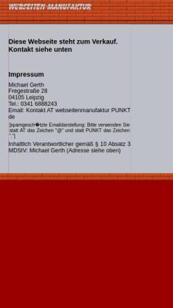 Vorschau der mobilen Webseite www.webseitenmanufaktur.de, Webseitenmanufaktur, Dr. Michael Gerth