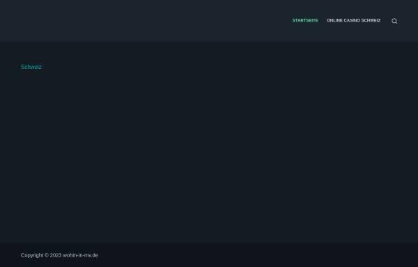 Vorschau von www.wohin-in-mv.de, Wohin in MV - Mecklenburg-Vorpommern auf einen Blick!
