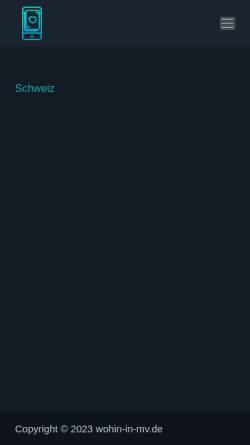 Vorschau der mobilen Webseite www.wohin-in-mv.de, Wohin in MV - Mecklenburg-Vorpommern auf einen Blick!