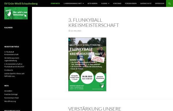Vorschau von www.gws1930.de, SV Grün-Weiss Schaufenberg 1930 e.V.