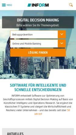 Vorschau der mobilen Webseite www.inform-software.de, Inform GmbH