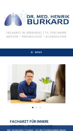 Vorschau der mobilen Webseite www.pneumoportal.de, Burkhard, Dr. med Henrik
