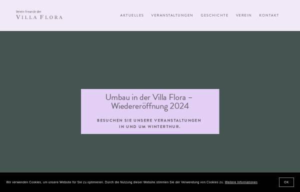 Vorschau von www.villaflora.ch, Winterthur, Villa Flora