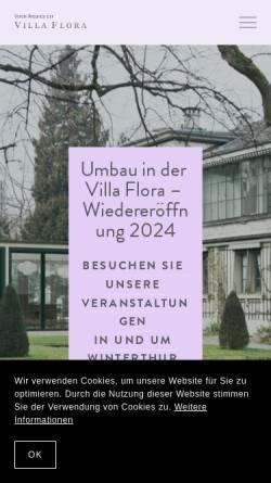 Vorschau der mobilen Webseite www.villaflora.ch, Winterthur, Villa Flora