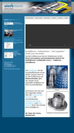 Vorschau der mobilen Webseite www.wiedemann-gmbh.de, Wiedemann GmbH