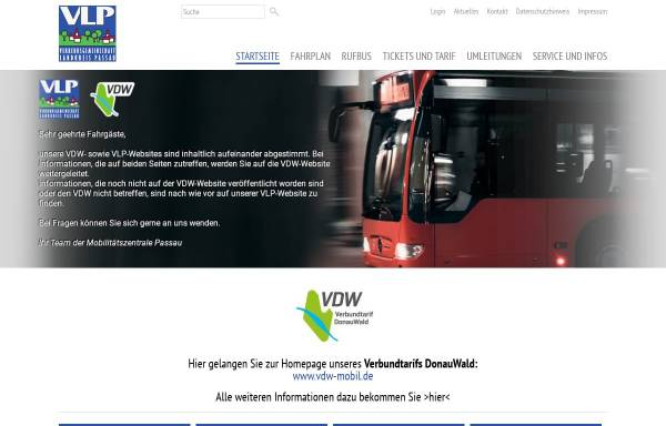 Vorschau von www.vlp-passau.de, VLP Passau