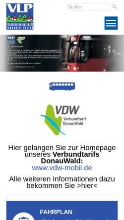Vorschau der mobilen Webseite www.vlp-passau.de, VLP Passau