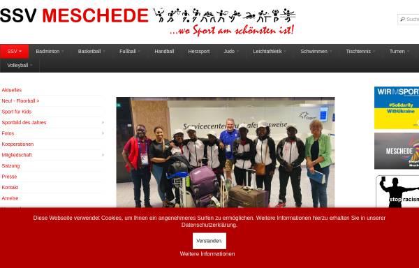 Vorschau von www.ssvmeschede.de, Spiel- u. Sportverein Meschede e.V.