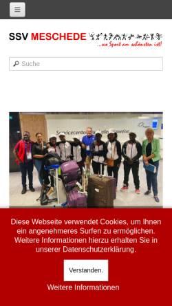 Vorschau der mobilen Webseite www.ssvmeschede.de, Spiel- u. Sportverein Meschede e.V.