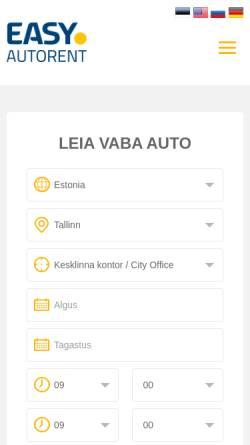 Vorschau der mobilen Webseite www.easycarrent.ee, Easy Car Rent