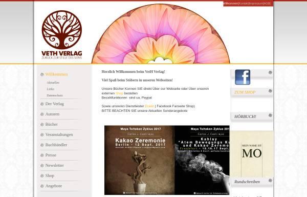 Vorschau von www.veth-verlag.de, Verlag für authentische Spiritualität, Holger Veth