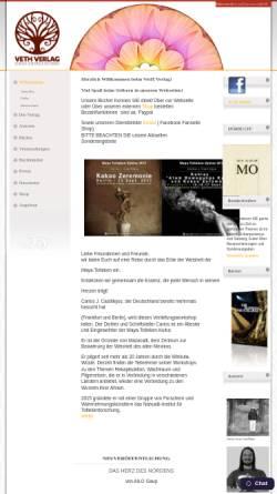 Vorschau der mobilen Webseite www.veth-verlag.de, Verlag für authentische Spiritualität, Holger Veth