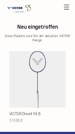Vorschau der mobilen Webseite www.victor-austria.at, Gratsch & Truttenberger GnbR