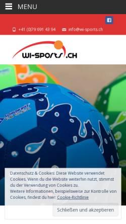 Vorschau der mobilen Webseite www.wi-sports.ch, International Sports Trading GmbH