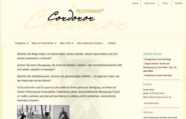 Vorschau von cordoror.de, Cordoror – David Jeker