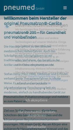 Vorschau der mobilen Webseite www.pneumed.de, Pneumed GmbH