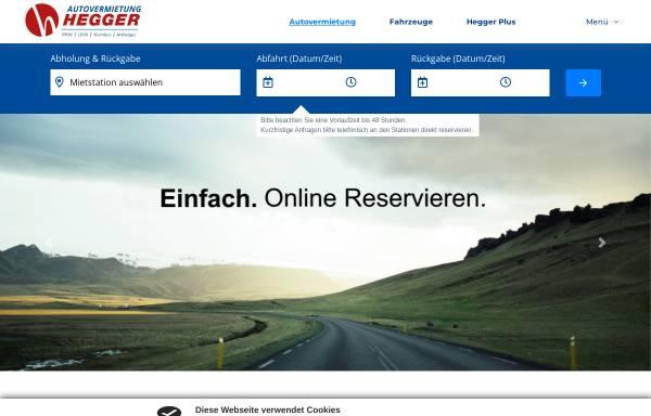 Vorschau von www.hegger.info, Autovermietung Hegger
