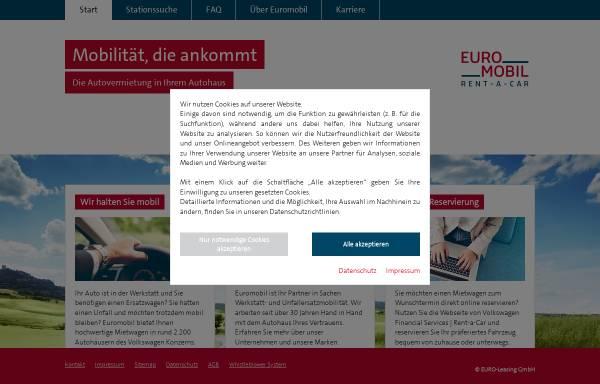 Vorschau von www.euromobil.de, Euromobil Autovermietung GmbH