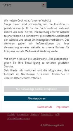 Vorschau der mobilen Webseite www.euromobil.de, Euromobil Autovermietung GmbH