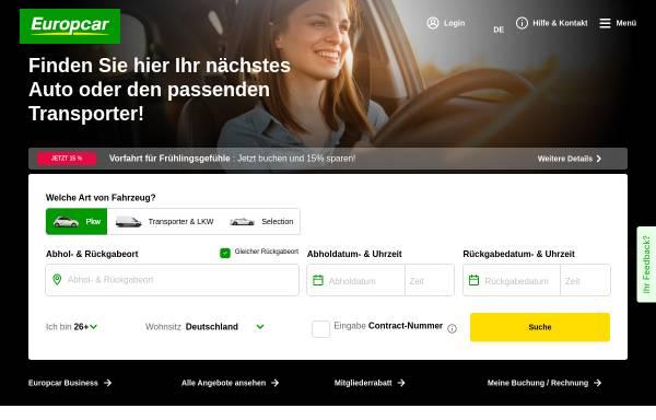 Vorschau von www.europcar.de, Europcar