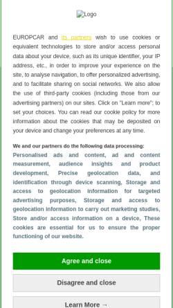 Vorschau der mobilen Webseite www.europcar.de, Europcar