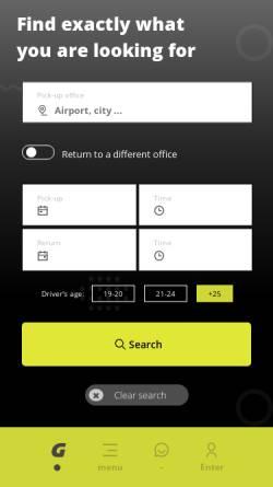 Vorschau der mobilen Webseite www.interrent.com, Interrent