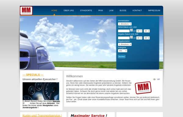 Vorschau von www.mm-autovermietung.de, MM Autovermietung GmbH