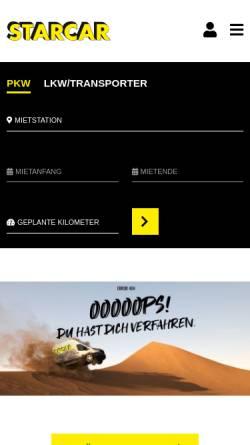 Vorschau der mobilen Webseite www.renty.de, Renty Kraftfahrzeugvermietung GmbH & Co. KG
