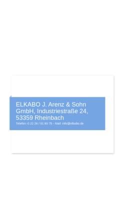 Vorschau der mobilen Webseite www.elkabo.de, Elkabo GmbH