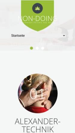 Vorschau der mobilen Webseite non-doing.de, Frank Nesemann