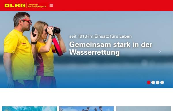 Vorschau von bad-lippspringe.dlrg.de, DLRG-Ortsgruppe Bad Lippspringe