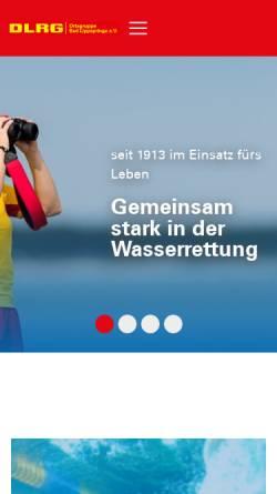 Vorschau der mobilen Webseite bad-lippspringe.dlrg.de, DLRG-Ortsgruppe Bad Lippspringe