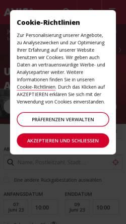 Vorschau der mobilen Webseite www.avis.at, Avis