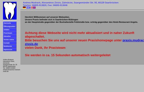 Vorschau von www.zahnaerztin-mudrack.de, Zahnärztin Andrea Mudrack