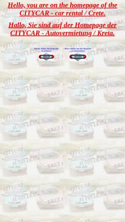 Vorschau der mobilen Webseite www.citycar-crete.com, CityCar Kreta