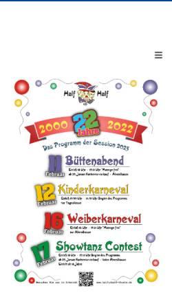 Vorschau der mobilen Webseite www.halfunhalf-thuele.de, Half un Half Karnevalsabteilung im Heimatverein Thüle e. V.