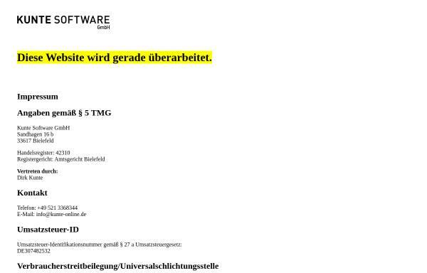 Vorschau von kunte.software, Kunte Software GmbH