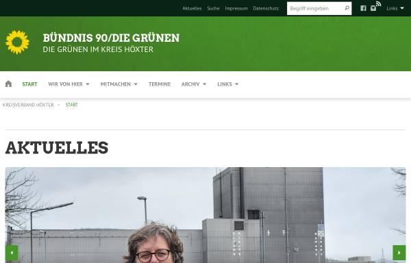 Vorschau von www.xn--grne-hxter-jcb1e.de, Bündnis 90/Die Grünen, Kreisverband Höxter