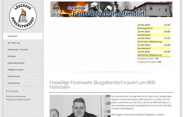 Vorschau von www.ff-burgaltendorf.de, Freiwillige Feuerwehr Essen-Burgaltendorf