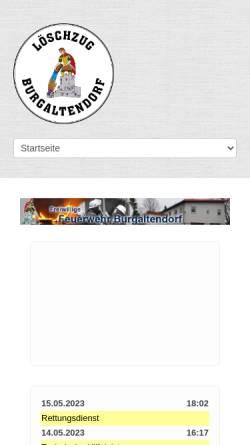 Vorschau der mobilen Webseite www.ff-burgaltendorf.de, Freiwillige Feuerwehr Essen-Burgaltendorf