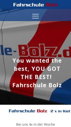 Vorschau der mobilen Webseite www.fahrschule-bolz.de, Fahrschule Bolz GbR